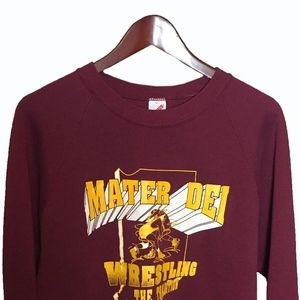 Mater Dei High School Wrestling Red Sweatshirt L